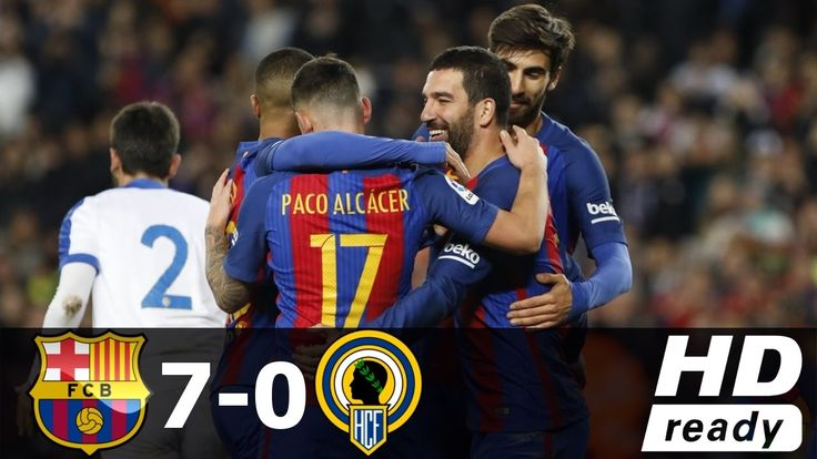 FC Barcelona vs Hercules 7-0 - All Goals & Extended Highlights - Copa de...