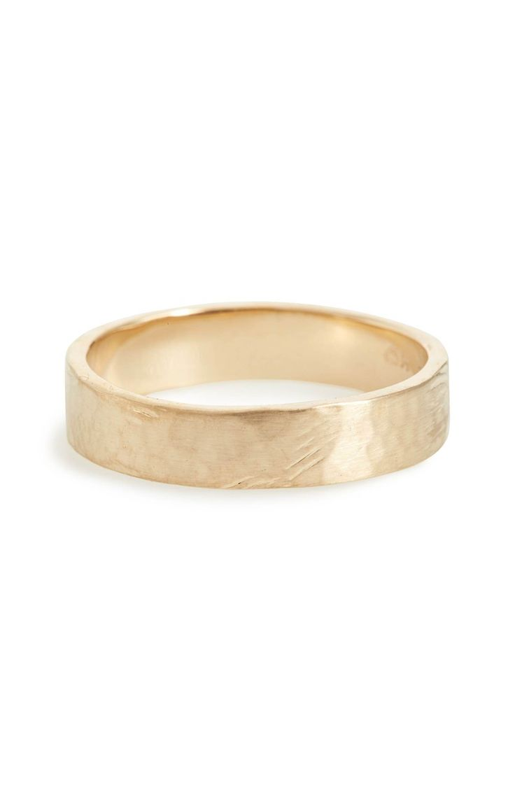 Main Image - WWAKE Harmony® Flat Classic Hammered Band Ring (Nordstrom Exclusive)