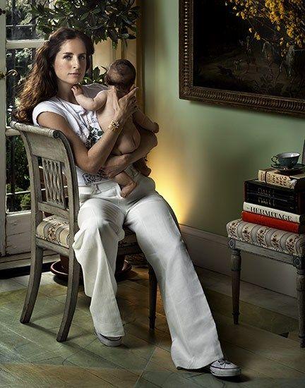 Carolina Herrera Jr. and child, via The Way We Live Blog