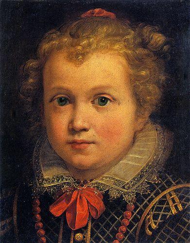 Portrait of a Little Girl,  Private Collection  DANIELE CRESPI (Busto Arsizio, 1598 – Milano, 19 luglio 1630)   #TuscanyAgriturismoGiratola