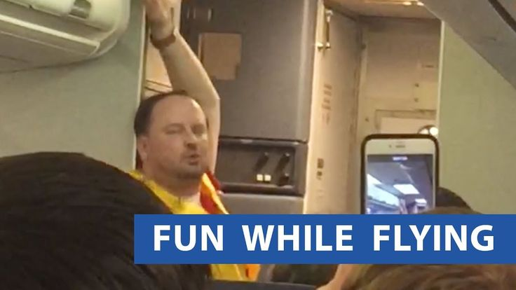 Flight Attendant Gives Sensual Safety Instructions