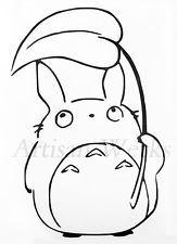 My Neighbor Totoro Chu Totoro decal sticker leaf manga anime car window laptop