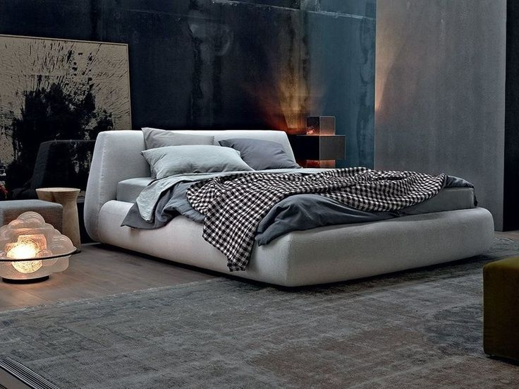 Download the catalogue and request prices of Big bed By poliform, upholstered fabric double bed with removable cover design Paola Navone, big Collection