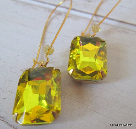 """Yellow Earring Citrine Earring Yellow by SpiritSparkleWhimsy Please use Coupon Code """"XMAS20"""" to receive 20 % off your entire order"""
