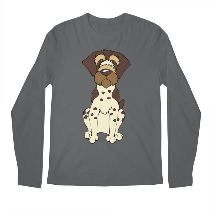 Calling all German Wirehaired Pointer Lovers!  Check this design as well as 100s more designs in the Angry Squirrel Studio Threadless Artist Shop. Available in multiple colors and styles. #threadless #artistshop #angrysquirrelstudio #dogsofpinterest #GermanWirehairedPointer https://angrysquirrelstudio.threadless.com