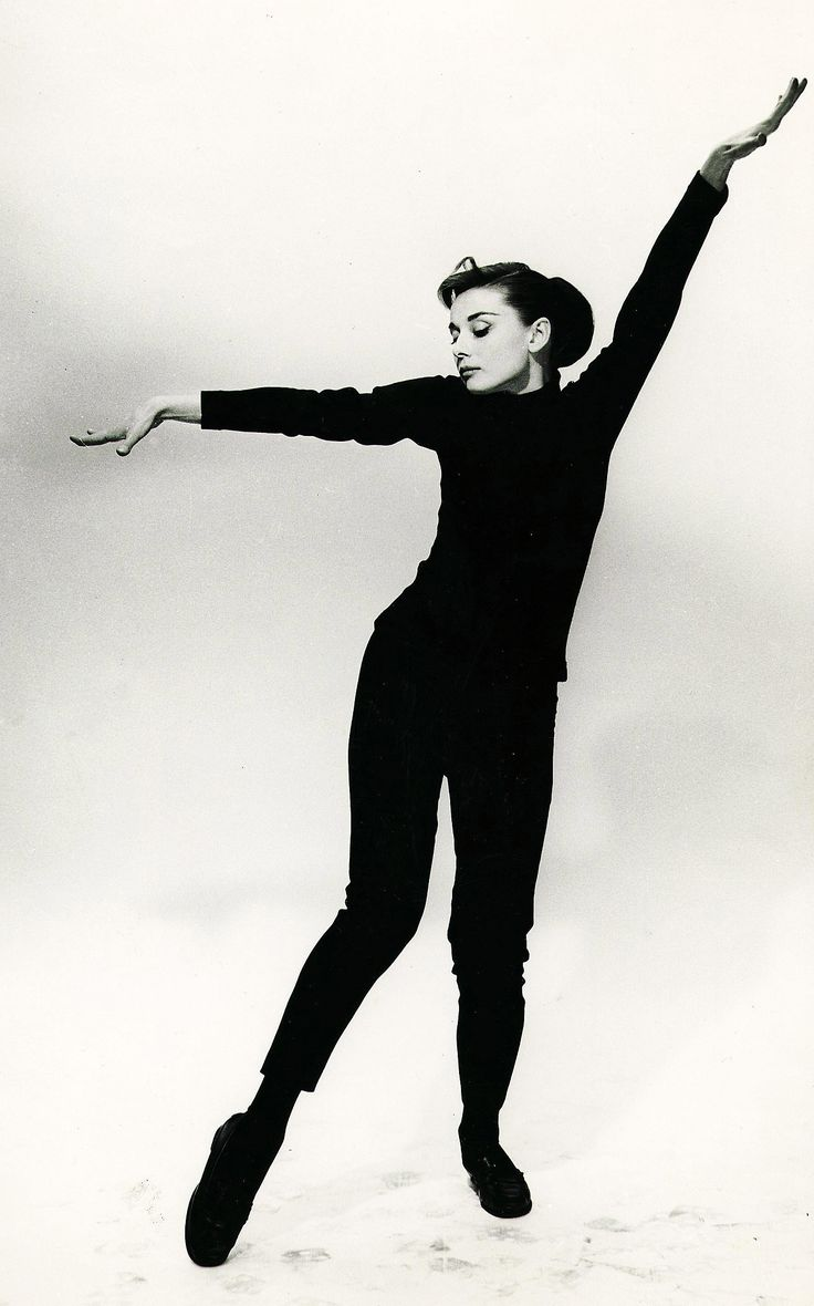 Audrey Hepburn, 1957. Publicity shot for Funny Face by Richard Avedon.