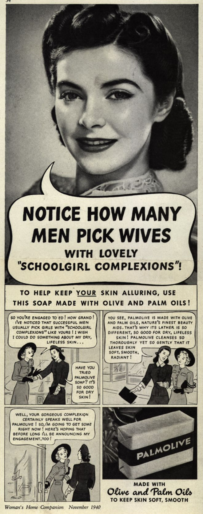With Lovely Woman Advertisement