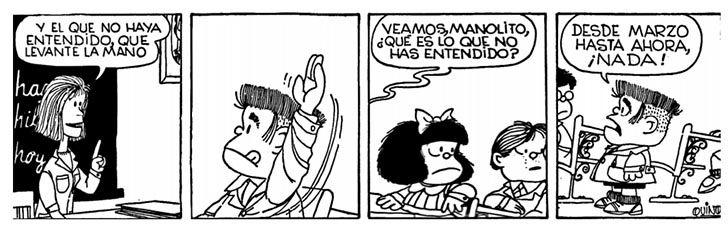 9 tiras cómicas de Mafalda para reflexionar sobre el rol docente - Elige Educar