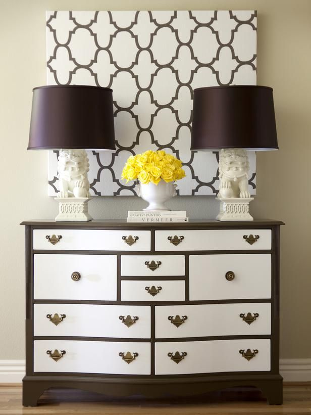 Go Bold With a Quatrefoil Print    A Celtic symbol for good luck, this clover-like symbol can be seen everywhere from the windows of Gothic cathedrals to the canvases of Renaissance art. Now it's everywhere in interior design, too — the repeating symbol is plentiful in fabrics, wallpaper, metal objects and more. Use the eye-catching pattern for bedding or pillows, or try it as a bold art piece like designer Tobi Fairley did here.