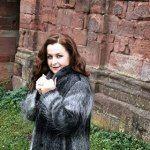 Langer Wintermantel FakeFur schwarz-weiß    Mode ab 40   Fashion over 40