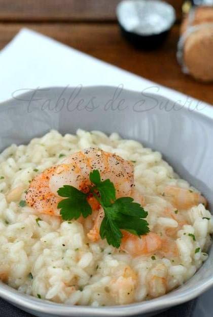 Primo piatto: risotto spumante e gamberi