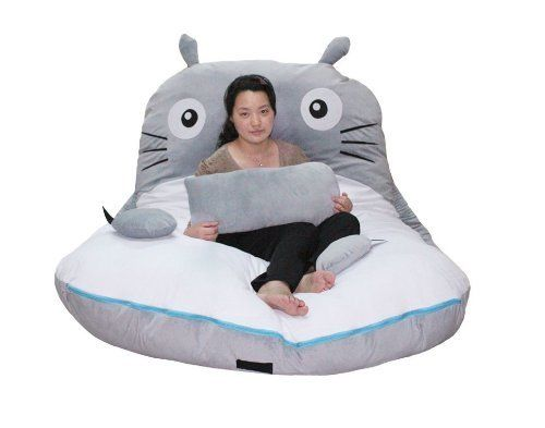 Cheap Price 300175cm Huge Cute Cartoon Totoro Double Bed Sleeping Bag Pad Sofa By