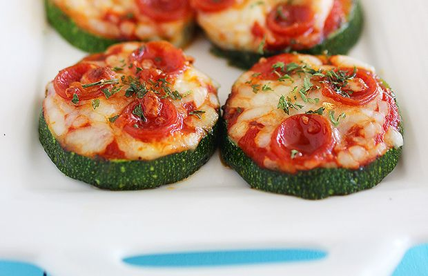 Healthy Pizza Bites with Zucchini Crust