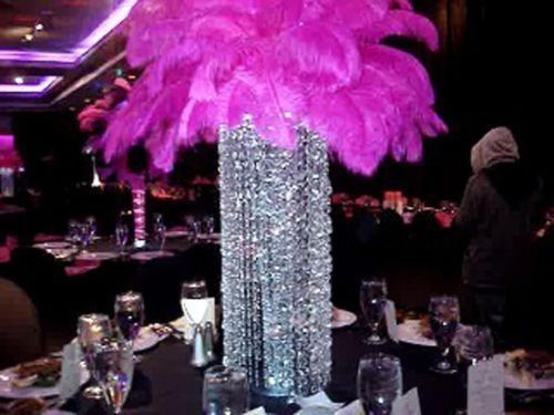Best white ostrich feather centerpieces images on pinterest