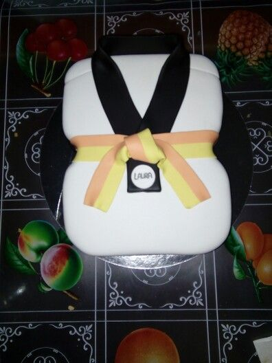 Tarta kimono de taekwondo