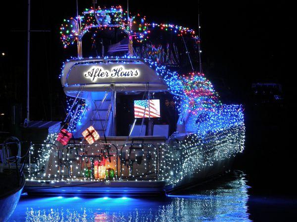 Key West boat light parade.