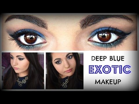 Chit Chat ♡ Deep Blue Exotic Makeup ♡ Ft. Chi Chi 'Exotic' Palette [Limited Edition] ♡ - YouTube