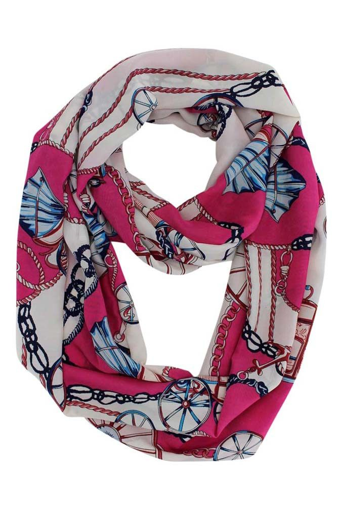 Wagon Wheel Nautical Anchor Scarf