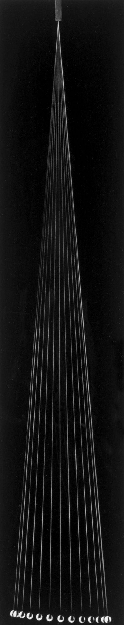 Berenice Abbott's Minimalist Black-and-White Science Imagery, 1958-1960.  The Pendulum (1960)