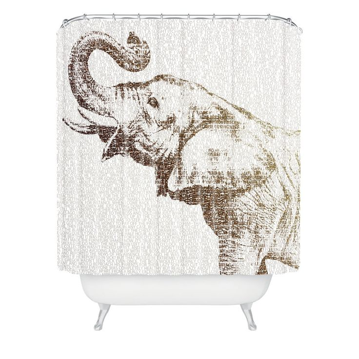 Belle13 The Wisest Elephant Shower Curtain | DENY Designs Home Accessories