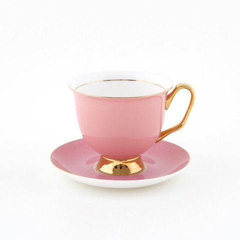 #Pink #375mL #XL #Teacup and #Saucer #Set | Be pretty in #pink and drink from this #bigger #better teacup you have always wanted! Get yours today at lyndalt.com