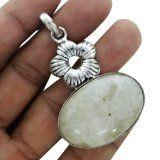 #Gioielli #5: pietra di luna ciondolo etnico metallo ottone ossidato moda indian gioielli antichi
