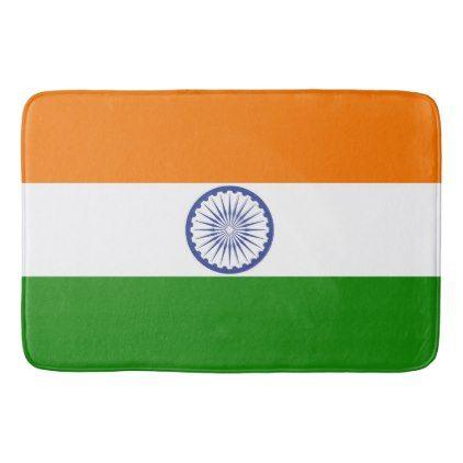 #National Flag of India Bathroom Mat - #Bathroom #Accessories #home #living