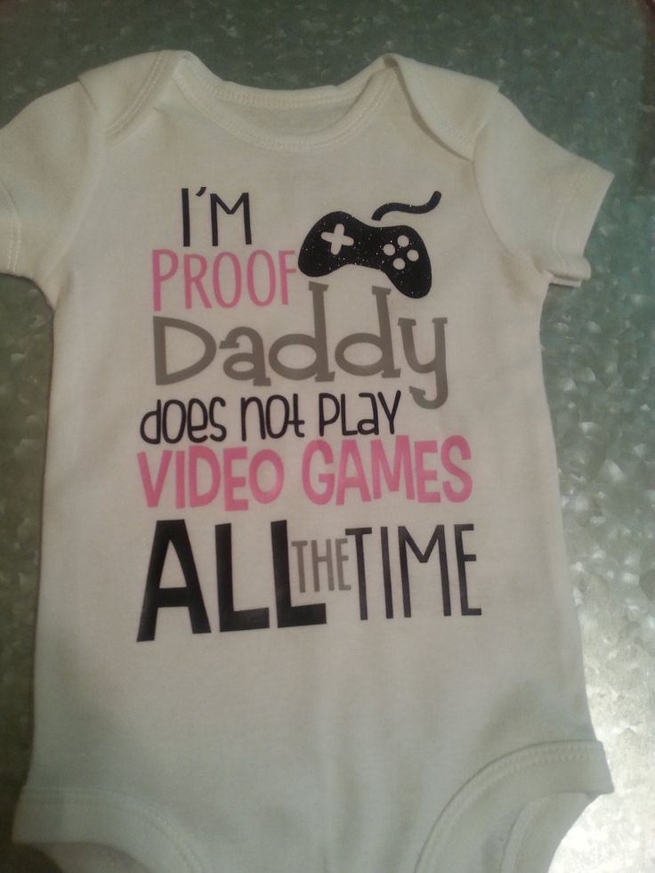 I'm Proof That Daddy Doesn't Play Video Games All The Time Baby Onesie Infant Clothing Funny Baby Shirt Gamer Shirt Baby And Daddy Shirt by SimplySweetJBoutique on Etsy