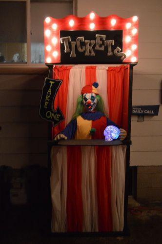carnival ticket booth Halloween Forum member Halloween props in