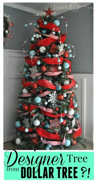 Designer Christmas Tree From The Dollar Tree