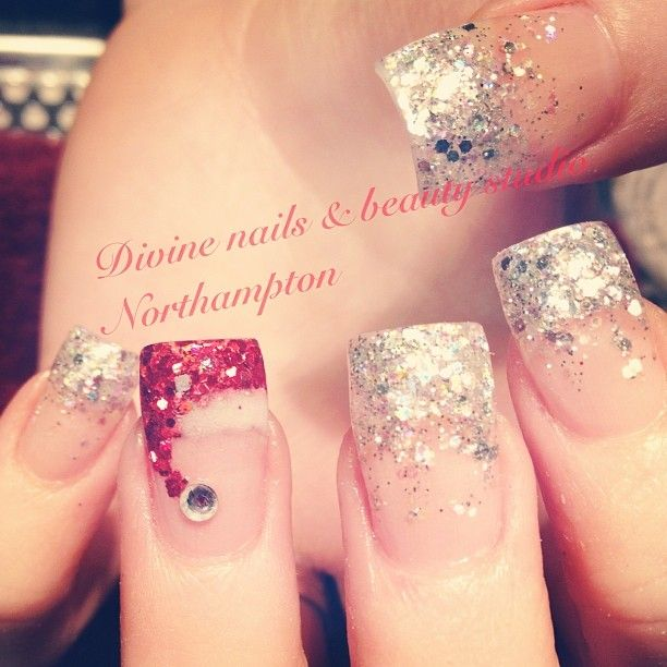Love the silver nails not the Santa one
