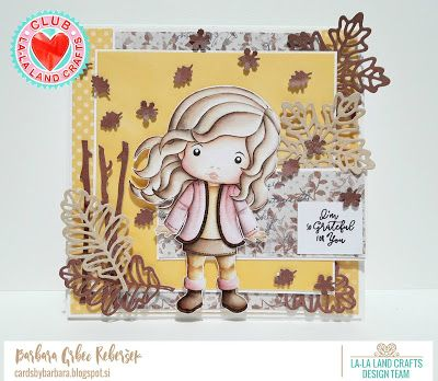 From our Design Team! Card by Barbara for inspiration on La-La Land Crafts blog. Click on the photo for product list and coloring details