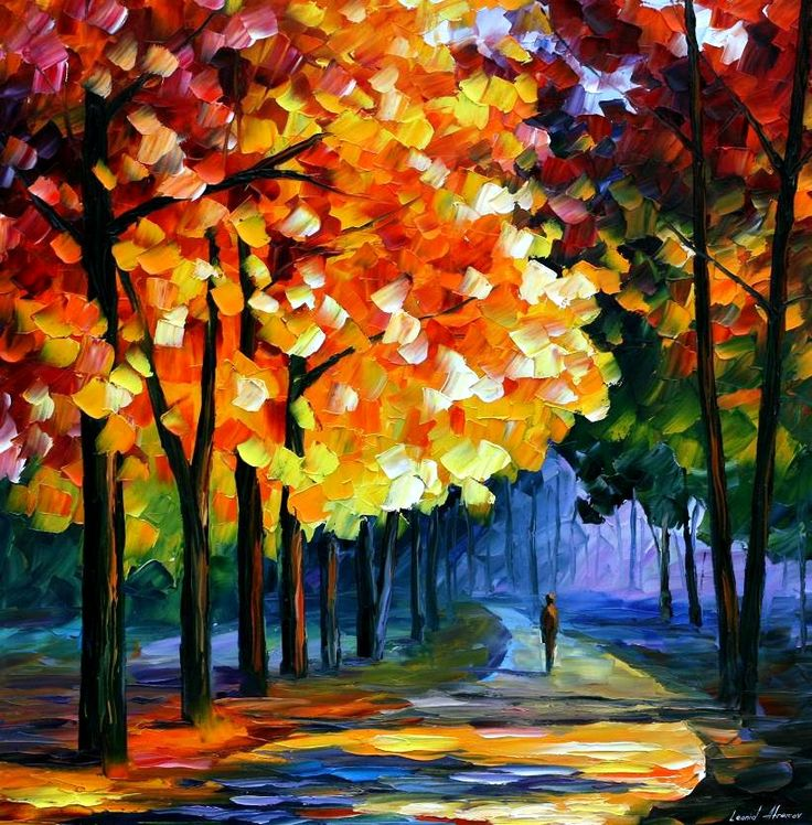 September Palette Knife Oil Painting On Canvas Art