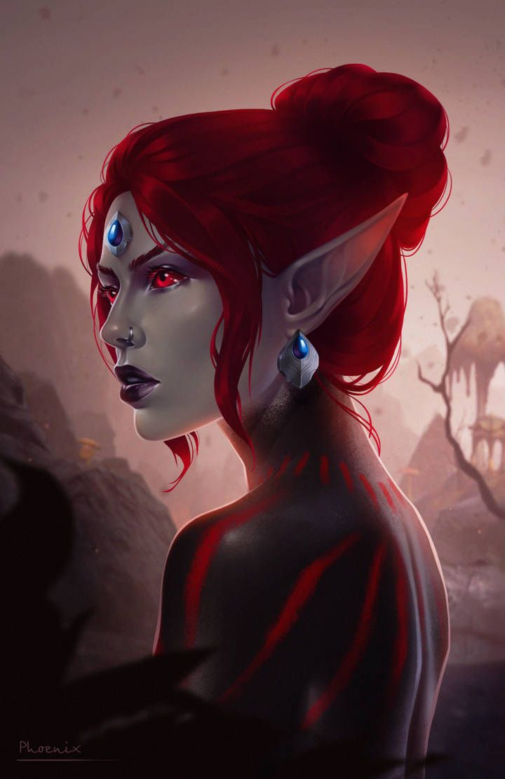 Dark elves are my race cause they cool and the girls are pretty ( definitely don't @ me on this ) | Skyrim art, Anime art fantasy, Elder scrolls art