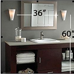 Rule of Thumb: Normally you want the center of the fixture at 60-66″ above the floor and the sconces should be least 30″ apart #bathroom #lighting