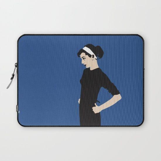 AUDREY HEPBURN 01. [laptop sleeve] by MESSYMISSY76