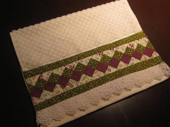 barrado de toalha em patchwork_Pesquisa do Baidu