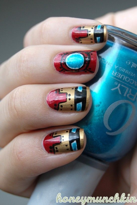 Iron Man Nail Art | NERDY NAIL DESIGNS: 30 AWESOME MANIS FOR GEEK GODDESSES