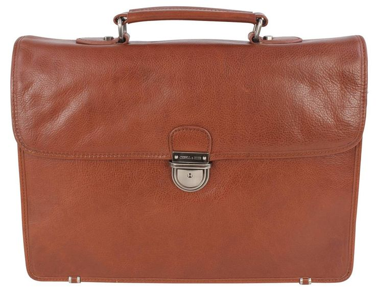 Jekyll and Hide Barcelona Leather Briefcase - Cognac | Jekyll and Hide Cognac Bag | KJ Beckett