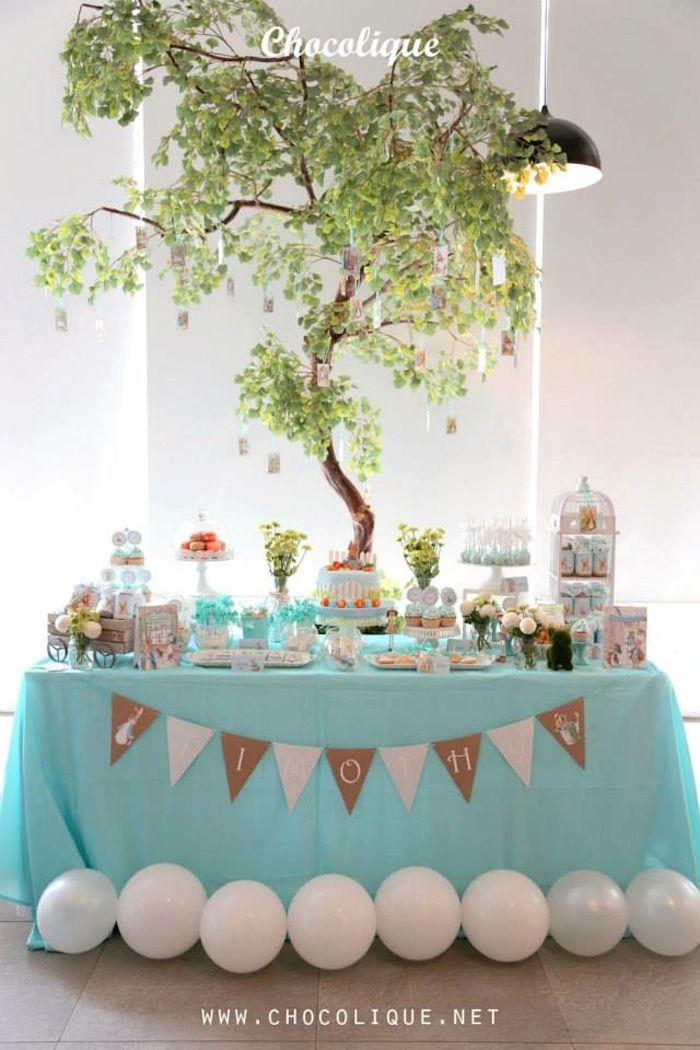 Peter Rabbit Themed 1st Birthday Party with Full of Really Cute Ideas via Kara's Party Ideas   KarasPartyIdeas.com #PeterRabbit #BeatrixPott...