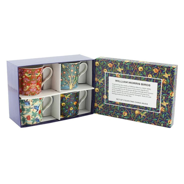 Leonardo Collection William Morris Mugs, Set of 4: Amazon.co.uk: Kitchen & Home