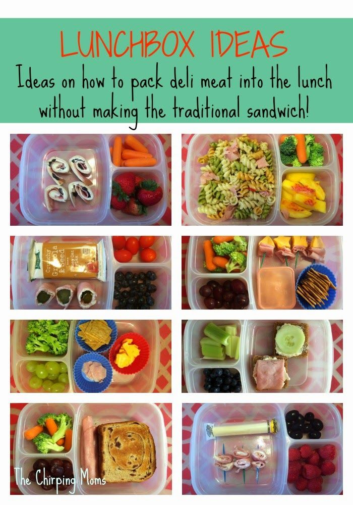 (sandwich-free) deli meat ideas for packed lunchboxes