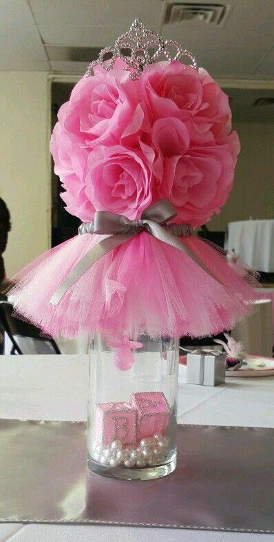 Image Result For Centros De Mesa Elegantes Para Baby Shower  Baby Shower Princess, Ballerina -9306