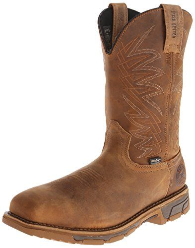 "Irish Setter Work Men's 83912 Marshall 11"" Pull-On Steel Toe Waterproof Work Boot,Brown,10.5 D US"