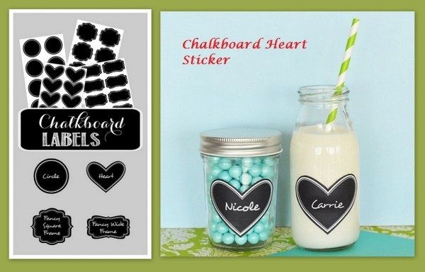Chalkboard Heart Sticker from HotRef.com