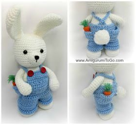 Amigurumi To Go: Overalls For Dress Me Bunny Boy Clothes