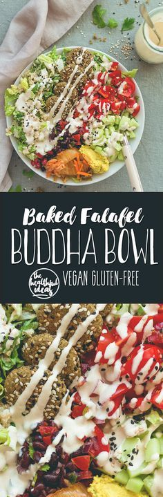 Baked Falafel Buddha Bowl - these falafels are healthy, easy, to make, gluten-free, vegan, and totally delicious! You'll love this recipe! | thehealthfulideas.com