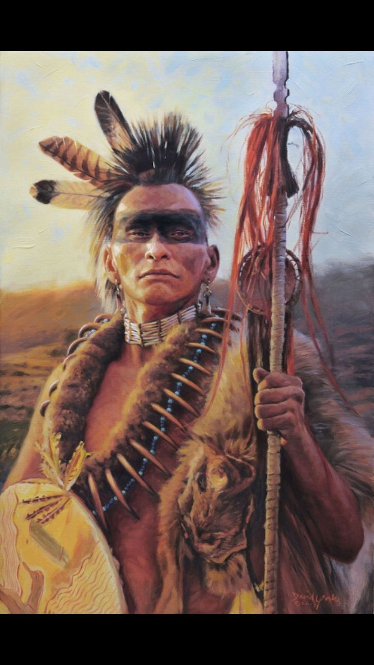 One of the Native American Braves.