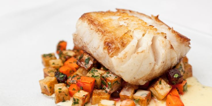 Cod fillet is roasted and served with seasonal ratatouille in this cod recipe from Galton Blackiston. The beurre blanc adds a lovely flavour to the cod fillet.