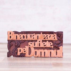 """Tablou din lemn """"Binecuvanteaza, suflete, pe Domnul"""" #woodenboard #christianmessage"""